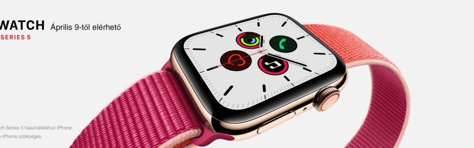 Új típusú Apple Watch debütál április elején